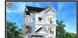 Biệt thự tân cổ điển mái thái 3 tầng ở Bình Dương-bia